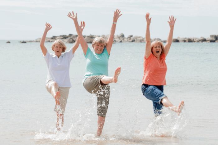 Frauen mit Autoimmunerkrankung voller Lebensfreude